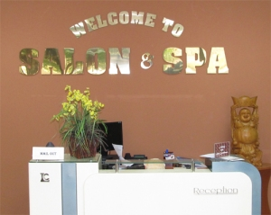 The lobby of Salon Spa USA
